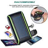 Solar Charger , CXYP 5400 mAh Hand Crank Solar Power Bank with Solar