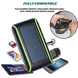CXYP 5400 mAh solaire à manivelle chargeur, 5 V double USB Panneau solaire banque d'alimentation d'urgence avec lumière LED pour iPhone, Samsung, Huawei universelle...