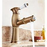@LIU-Poignée en laiton Centerset Single Hole-Robinet de cuisine Salle de bains Vanity Sink Robinet de lavabo , a