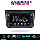 ANDROID 8 GPS DVD USB SD WI-FI DAB+ TPMS MirrorLink Bluetooth autoradio navigatore Alfa Romeo Mito 2008 2009 2010 2011 2012 2013 2014