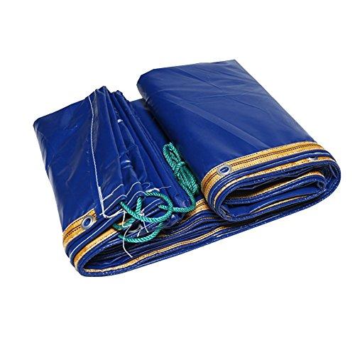 DS-bâche Épaississement bâche Polychlorure de vinyle double face protection solaire imperméable toile auvent Résistance à la déchirure tissu extérieur, 420g / m², épaisseur 0,35 mm&&