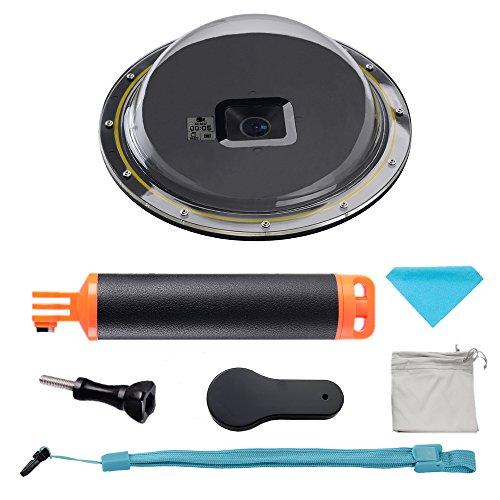 1(6), Dome para cámara GoPro Hero 5, aportará a capturar fotos y vídeo sin distorsiones increíble tanto por encima y por debajo del agua simultáneamente Versión mejorada puede mostrar el estado de su cámara a través de la pequeña pantalla LCD en el ...