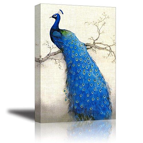Blu bellissimo pavone la pittura pittura di arte della parete la stampa su tela decorazione murale artistiche animale pittura tela wall art quadri bel regalo per il tuo amante natale e home room