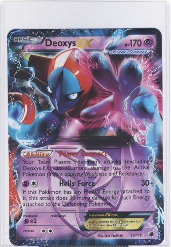 Pokemon Jumbo Deoxys EX Carte 53/116Grande Taille.