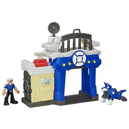 Minifiguren Transformers (Hasbro – B4965 – Playskool Heroes – Transformers Rescue Bots – Griffin Rock – Polizeistation – Spielset mit 2 Minifiguren)