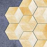 DSAOMO Adhesivo para Azulejos 20 * 23cm * 10PCS DIY Amarillo Azulejos de Gel Pegatina de Azulejos Ladrillo Auto-Adhesivo Pared Impermeable Decorativos Pegatina de Pared Azulejos de Gel para Cuarto de