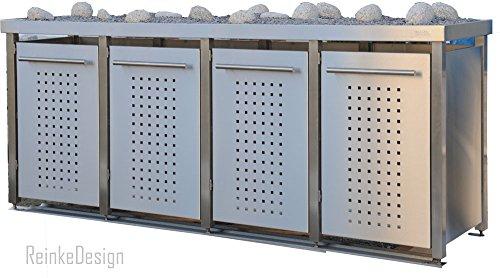 Mlltonnenbox-aus-Edelstahl-mit-Pflanzenwanne-4x240L