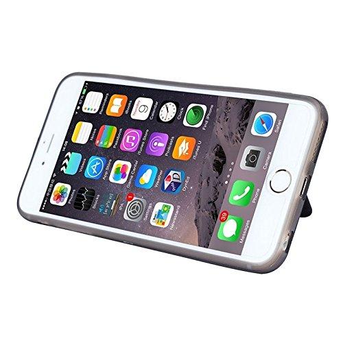 Phone case & Hülle Textur PU-Leder + TPU + PC-Kasten mit Kartenschlitzen u. Halter für iPhone 6 Plus u. 6S Plus ( Color : Coffee ) Coffee