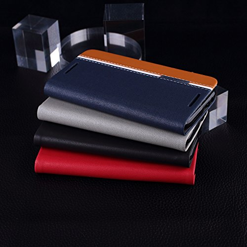 Couleur mixte Cover Case, Folio Stand Case Avec fente pour carte Housse en cuir PU pour HTC M9 ( Color : 4 , Size : HTC M9 ) 5