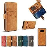 Samsung Galaxy Note 8 Hülle, Galaxy Note 8 Schutzhülle, Alfort Retro Lederhülle Flip PU Leder Hülle Cover Wallet Case für Samsung Note 8 6.3