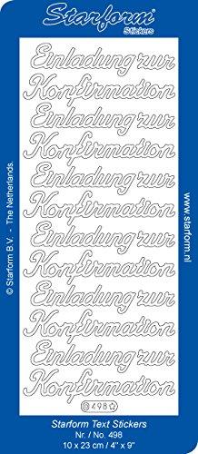 Starform Text Sticker 498 - Einladung zur Konfirmation Gold