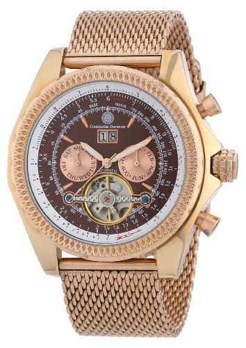 Constantin Durmont Herren-Armbanduhr XL Progressive Analog Automatik Edelstahl beschichtet CD-PROG-AT-RGM2-RGRG-BR