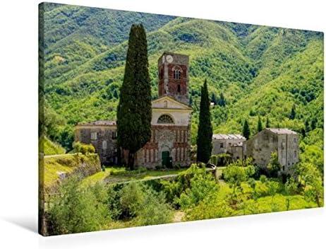Premium Textile Toile de 45 cm x 30 cm paysage Abbazia Di Sant'Andrea di borzone   La Plus Grande En Matière De Commodité