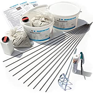 orig ruberstein starterset mit spiralanker 10 mm risse im mauerwerk sanieren. Black Bedroom Furniture Sets. Home Design Ideas
