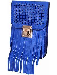 Ratash Cut Work With Stripe Cut Sling Bag Blue (Hbd_37_38_39_13)