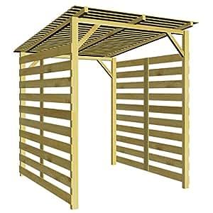 vidaxl abri de stockage du bois de chauffage v lo pin fsc. Black Bedroom Furniture Sets. Home Design Ideas