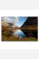 Premium Textil-Leinwand 120 x 80 cm Quer-Format Loch Achtriochtan, Glencoe, Schottland   Wandbild, HD-Bild auf Keilrahmen, Fertigbild auf hochwertigem Vlies, Leinwanddruck von Martina Cross Haushaltswaren