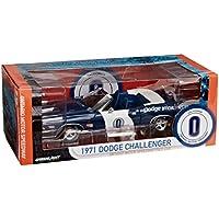 Greenlight - Modellino Auto 1971 Dodge Challenger Convertible, #0, Ontario Motor Speedway, Scala 1:18