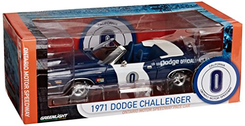 Greenlight Collectibles – 12871 – Fahrzeug Miniatur – Modell Maßstab – Dodge Challenger Convertible – Pace Car 1971 – Echelle 1/18