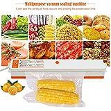 Confezionatrice sottovuoto, confezionatrice sottovuoto automatica per alimenti Risparmio con un solo tocco per alimenti freschi asciutti e umidi adatti per l'uso in campeggio e nelle case.