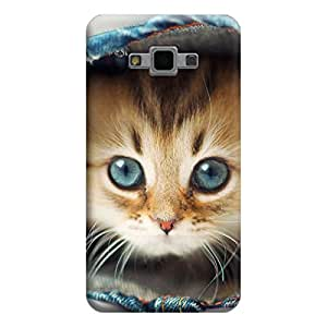 Desicase Samsung Grand Max / Grand 3 Watching Kitten 3D Matte Finishing Printed Designer Hard Back Case Cover (Multicolor)