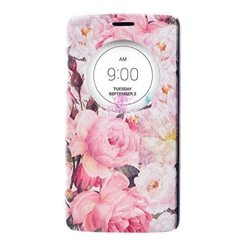 Coque LG G3 D855 Etui a Rabat, Moon mood Vision Fenêtre Ultra Slim Étui de Protection Coque pour LG G3 5.5 pouces Housse en Cuir PU et PC Rigide Bumper Bookstyle Case Couverture Protable avec