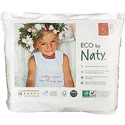 Naty by Nature Babycare - Culottes d'Apprentissage Écologiques Jetables - Taille 5 Junior - Poids: 12-18 Kg - 20 Couches