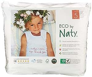 Naty by Nature Babycare - Culottes d'Apprentissage Écologiques Jetables - Taille 5 Junior - Poids: 12 - 18 Kg - 20 Couches