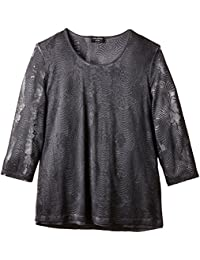 Via Appia Due Damen Bluse Rundhals, Animalprint