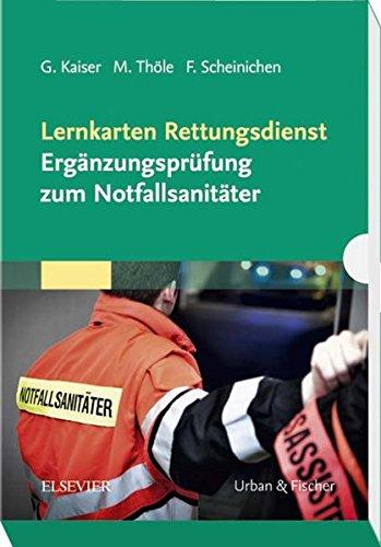 Lernkarten Rettungsdienst - Ergänzungsprüfung zum Notfallsanitäter