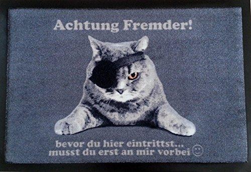 """Türmatte Fußmatte \""""Piraten\""""- Katze Fußabtreter Tür Vorleger Cats Cat Fußabtreter rutschfest"""