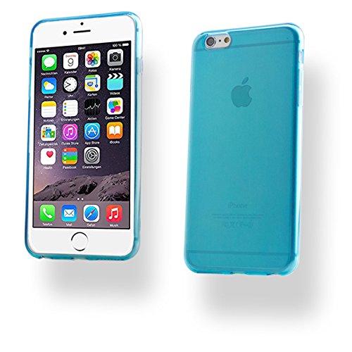 + iPhone 6 PLUS / 6S PLUS SILIKON Schale Handy Hülle Tasche Schutz Cover Case Bumper Etui + PANZER GLAS FOLIE (Pink) Türkis