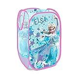 SOLA Disney Foldable Pop Up Mesh Hamper Laundry Basket Bag - Excellent Gift Idea for Kids and Children (Frozen)