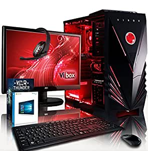 "VIBOX Centre 9 Gaming PC Computer with War Thunder Game Voucher, Windows 10 OS, 22"" HD Monitor (3.3GHz Intel Pentium Dual-Core Processor, Nvidia GeForce GT 710 Graphics Card, 4GB DDR4 RAM, 1TB HDD)"