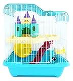 BPS® Jaula Hámster Chalé para Hámster con Escalera Túnel y Casa Especial Alta Calidad 28 * 21 * 31 cm BPS-1340 (Azul)