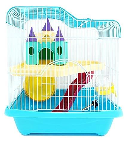 Hamster Russe - BPS® BPS-1340 Cage pour hamster avec maisonnette,