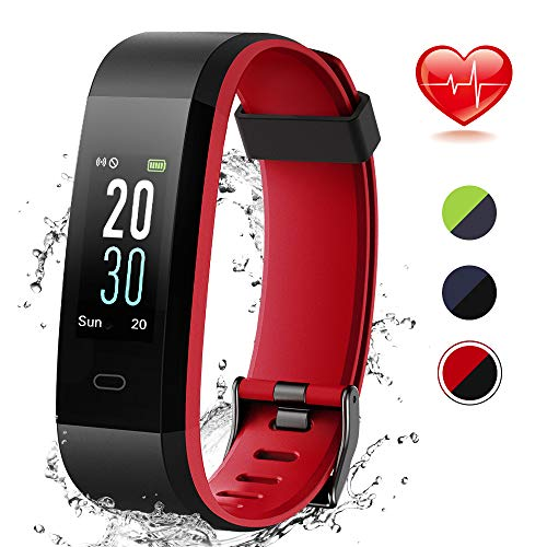 Lintelek Montre Connectée, Fitness Tracker d'Activité Moniteur de la Fréquence Cardiaque et du Sommeil, Montre Podomètre Étanche IP68 Écran Couleur GPS Connecté pour Enfants Femmes Hommes
