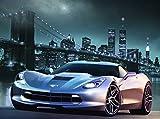 Fototapete MANHATTAN CAR I-(413p)-Größe 350x260cm in 7 Bahnen-Inkl. Kleister-PREMIUM-Photo-Tapete XXL Foto-Mural Bild Poster New York Manhattan London City Insel Skyline Amerika USA Japan Italien
