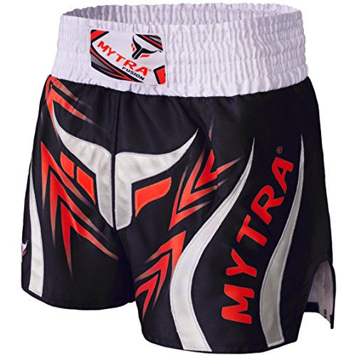 Mytra Fusion Pro Boxing Shorts for Muay Thai Training Punching, Sparring Fitness Gym Clothing Fairtex jiu jitsu MMA Muay Thai Kickboxing Equipment Trunks (Combat Training-equipment)