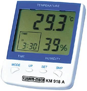 Kusam Meco KM 918A Digital Hygro-Thermometer with Clock and Alarm Function