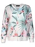 Zwillingsherz Sommer Jacke - Hochwertige Strickjacke für Damen Mädchen - Blouson - streetwear - Bomber - Sweatshirt - Blazer mit Reissverschluss für Frühling Herbst und Winter
