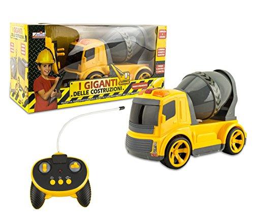 MEDIA WAVE store  120455 Camión o hormiguera de Juguete con Radio Control con Luces y Sonidos - Hormigonera