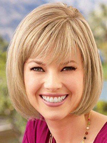 Européenne et américaine de la mode du commerce perruques WIG femme Shi Kasi AD perruque courte cheveux raides tête de bobo