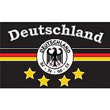 Flagge 90 x 150 : Deutschland Fanfahne 7 - 4 Sterne