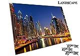 Poster Druck UAE Dubai Marina Vereinigten Arabischen Emirate Persischen Golf - A3
