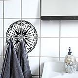 Boubouki Wasserabweisende Fliesenaufkleber COM Passo (Poster) - Transparent – für Bad und Küche | 15 x 15 cm