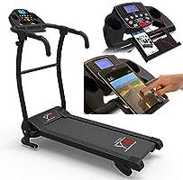 YM Tapis ROULANT Elettrico Pieghevole Bluetooth App I FITSHOW SENSORE Cardiaco Cardio 1500 W / 2,5 HP Picco