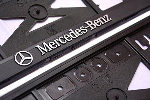 iPrime® porta targa Mercedes-Benz, effetto 3D, 1paio (2pezzi)