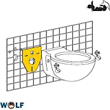 Schallschutzset Wand-WC aus PE-Schaum für Geberit Element