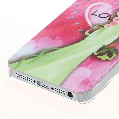 iPhone Case Cover IPhone 5S SE 5 cas, mariage de beauté mariée motif plastique cas dur couverture pour IPhone 5S SE 5 ( Color : 2 ) 4